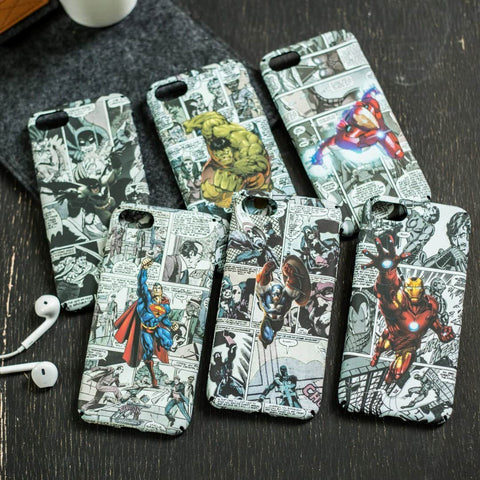 Hapyyness BFX / for iphone 7 plus Luminous Marvel Phone cover case For iphone X XS MAX XR 10 8 7 6 6S plus 5 5S SE cases Matte hard plastic cover Spiderman Batman
