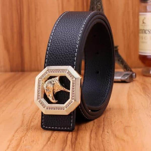 best quality black mens leather belt