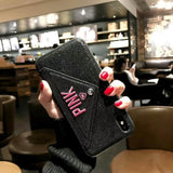 Hapyyness Black / For iphone 6 6s Luxury iPhone Case with Secret Wallet®