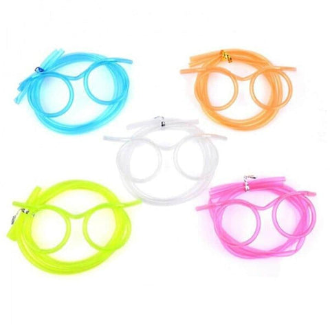 Hapyyness Blue Crazy Eyeglasses Drinking Straws®