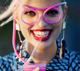 Hapyyness Crazy Eyeglasses Drinking Straws®