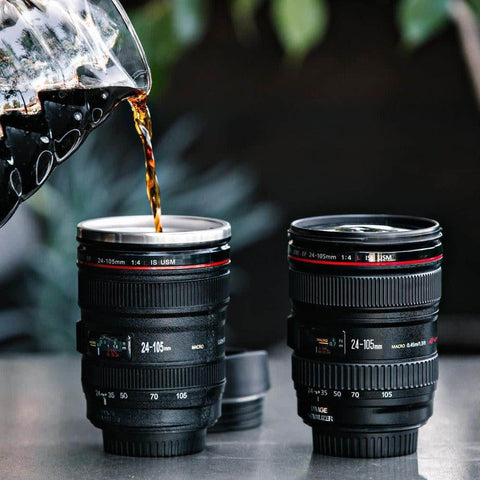 Hapyyness Camera Lens Coffee Mug Camera Lens Coffee Mug For Photographers & Coffee Lovers