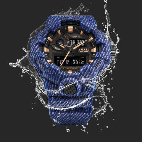 Best Digital Chronograph Sports Outdoor Watch for men 2019 blue