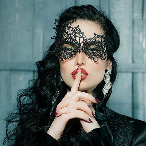 Hapyyness Heart Venetian Black Masquerade Masks for women