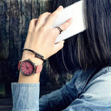 Hapyyness pink MEIBO Relojes Quartz Men Watches Casual Wooden Color Leather Strap Male Wristwatch Relogio Masculino Ladies Watch female watch