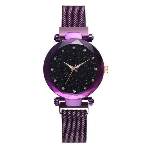 Magnetic Strap Watch Purple