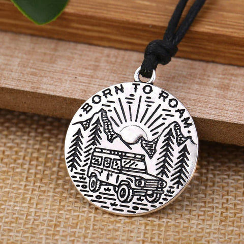Hapyyness Silver Adventure Awaits Necklace Pendent®