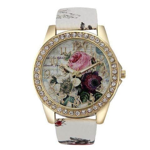 Hapyyness White Charming Casual Watch for Ladies®