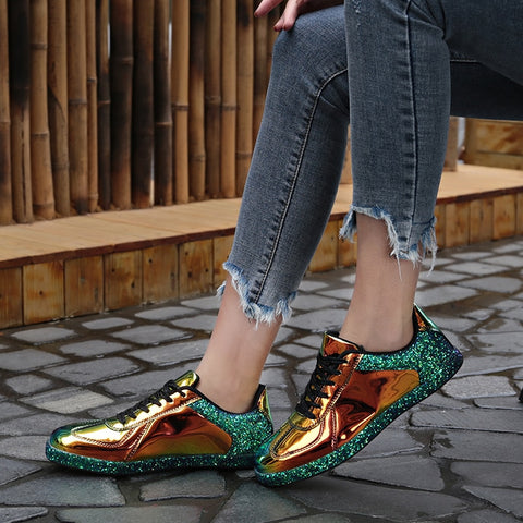 Glitter Oxford Sneakers(Tropical Green)
