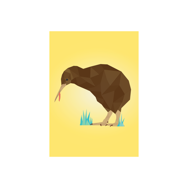 Iko Iko Geo Bird Card Kiwi
