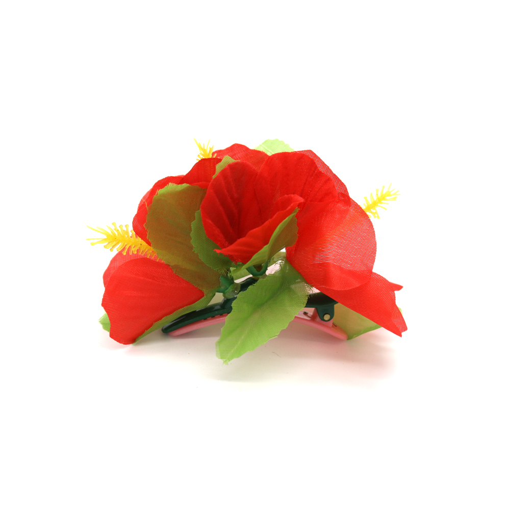 Party Flower Hair Clip Red