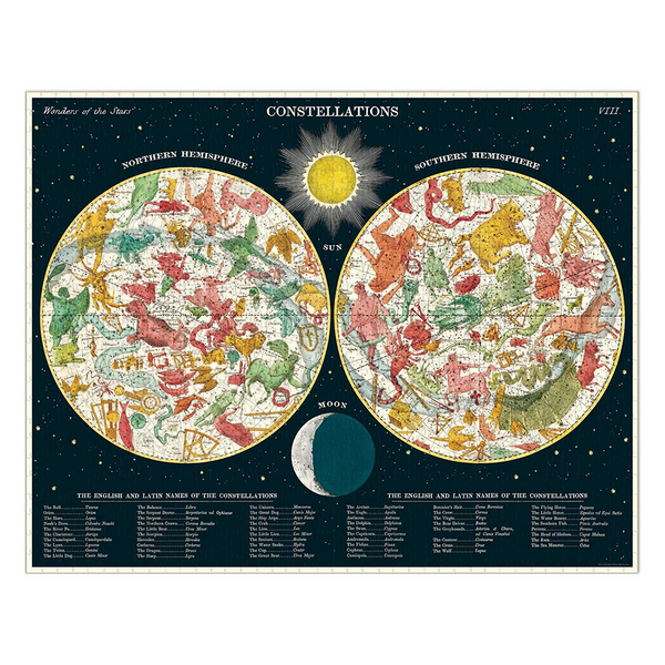 Cavallini 1000 Piece Puzzle Constellations