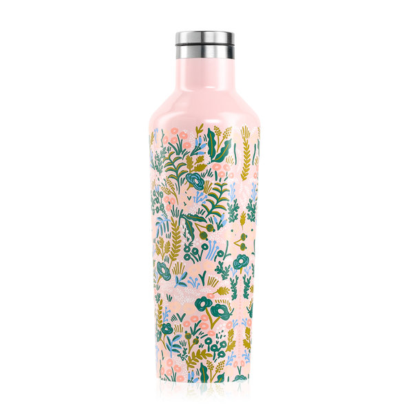 Corkcicle x Rifle Paper Co. Canteen Drink Bottle 16oz Pink Tapestry
