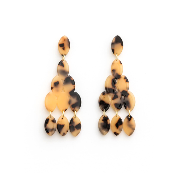 Stella + Gemma Earrings Tortoiseshell Droplets