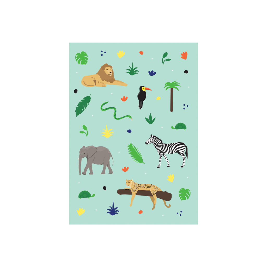 Iko Iko Animal Pattern Card Safari