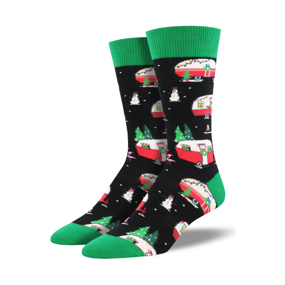 Socksmith Socks Mens Christmas Campers Black