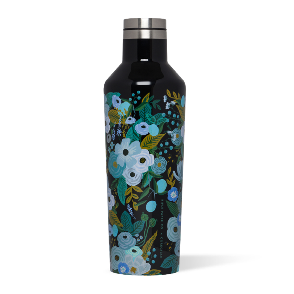 Corkcicle x Rifle Paper Co. Canteen Drink Bottle 16oz Garden Party Blue