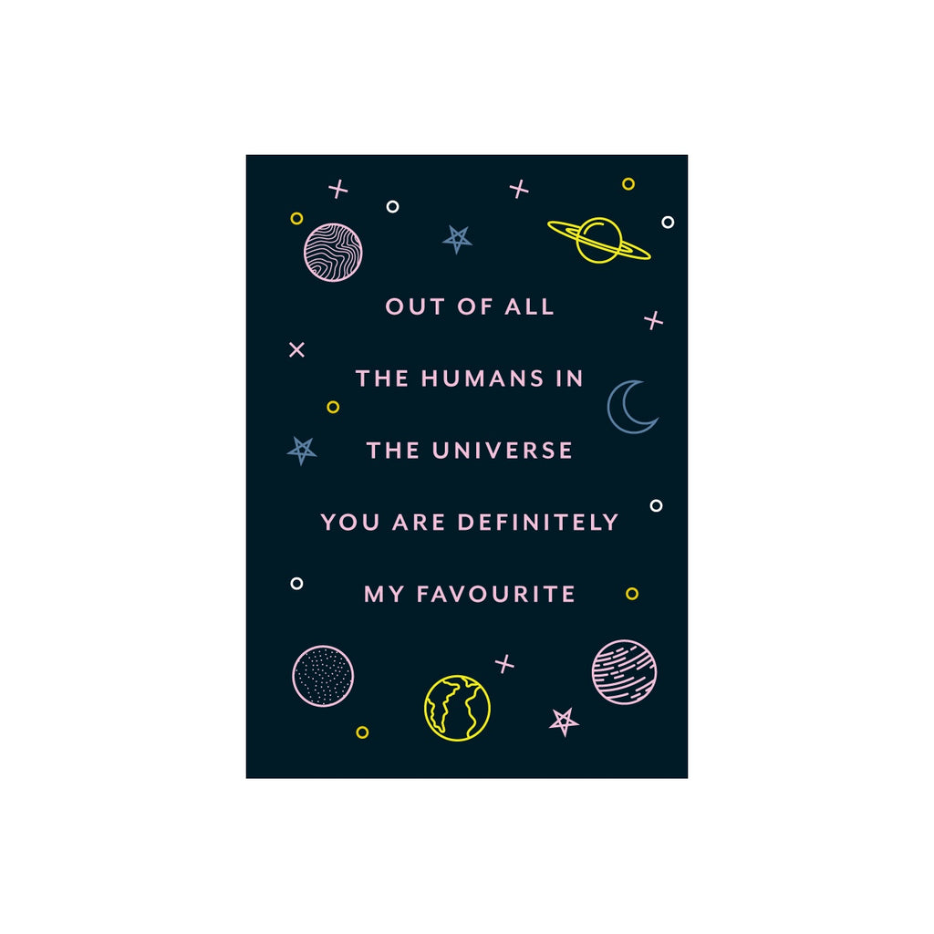 Iko Iko Patterned Message Card Universe