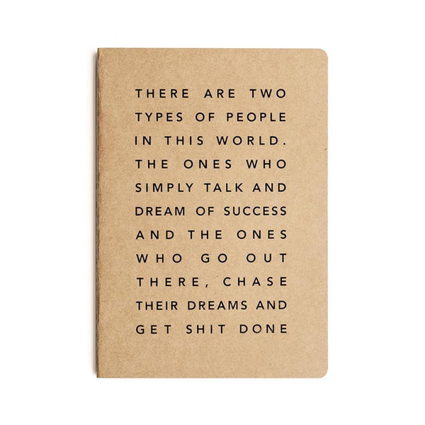 Mi Goals Get Shit Done Notebook A5 Manifesto