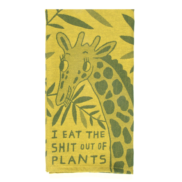 Blue Q Tea Towel Eat The Shit Out Of Plants
