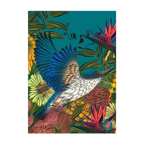 Flox Tea Towel Kingfisher