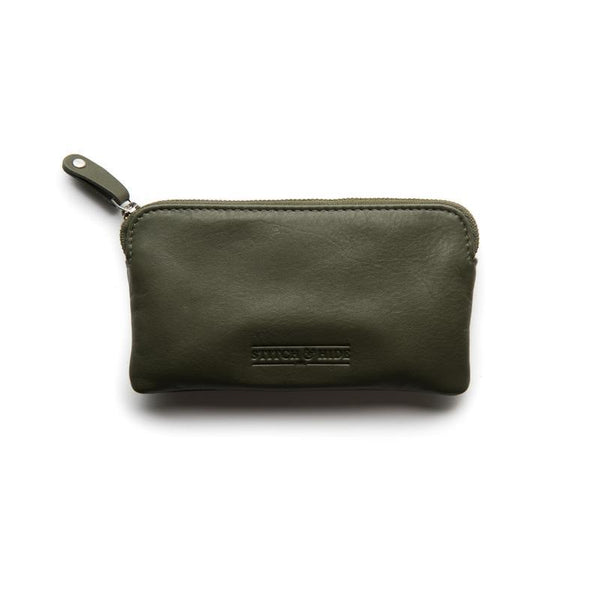 Stitch & Hide Leather Lucy Pouch Olive