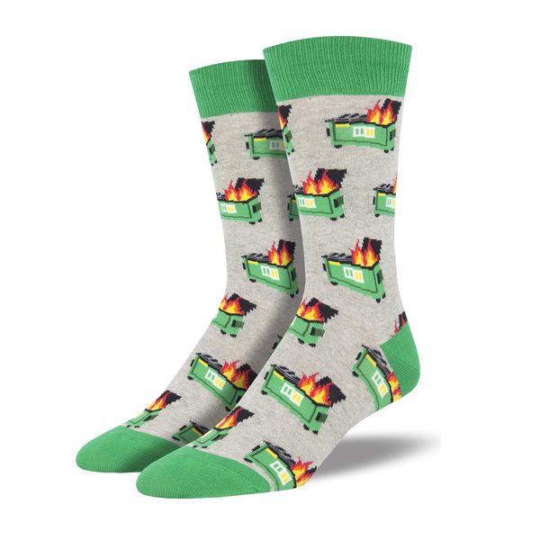 Socksmith Socks Mens Dumpster Fire