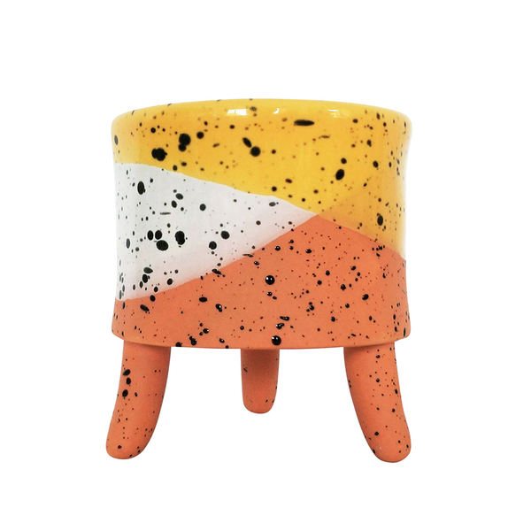 Cora Planter with Legs Yellow Small