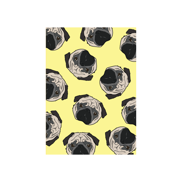 Iko Iko Colour Pop Card Pug
