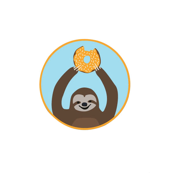 Alice Berry Blue Sloth Iron-on Patch