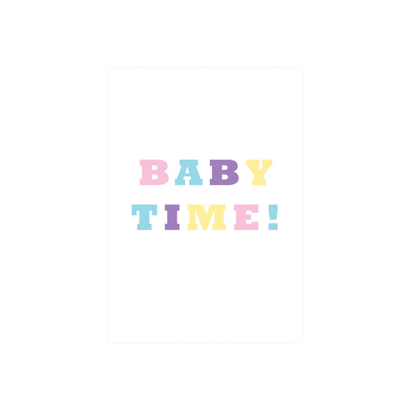 Iko Iko Colour Text Card Baby Time