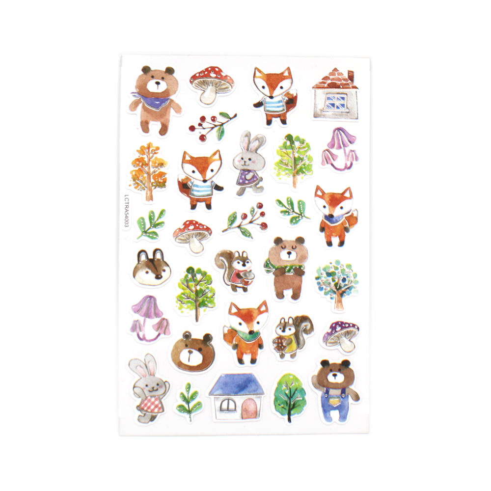 Autumn Animals Stickers
