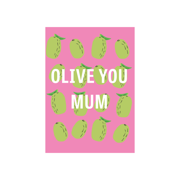 Iko Iko Fruit Mum Card Olive You
