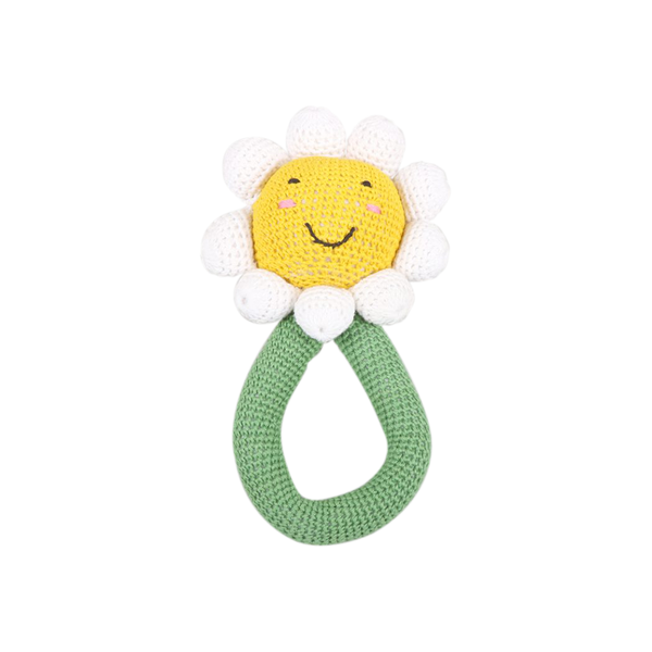 Crochet Daisy Rattle