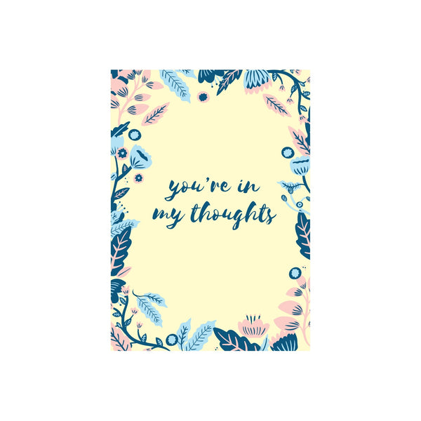 Iko Iko Floral Message Card Thoughts