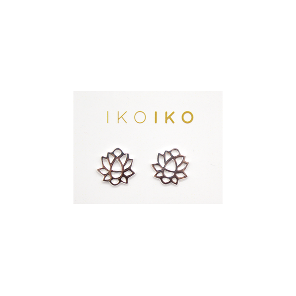 Iko Iko Studs Big Lotus Flower