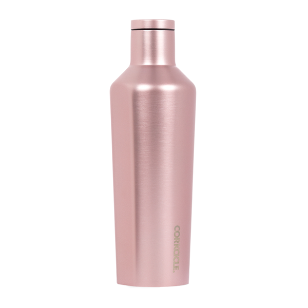 Corkcicle Canteen Drink Bottle 16oz Rose Metallic