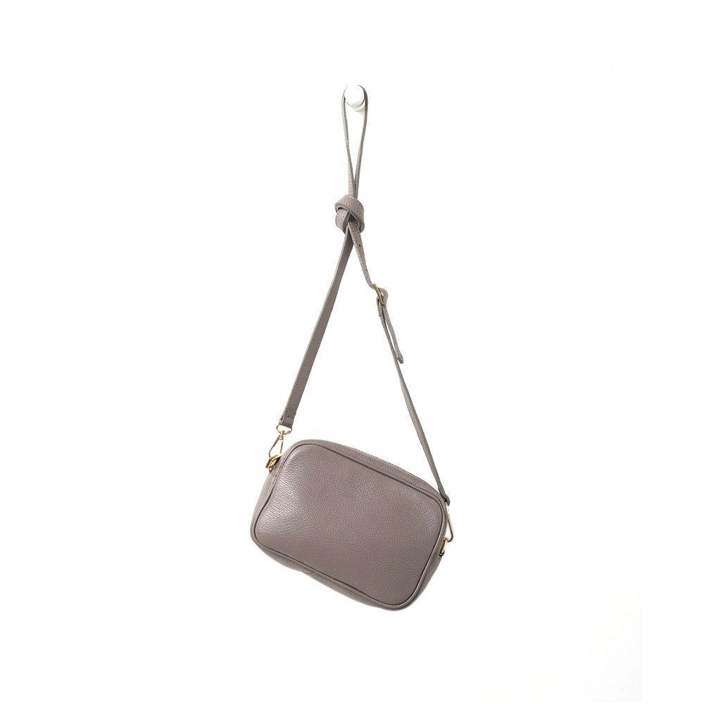 Citta Dixon Leather Handbag Mushroom