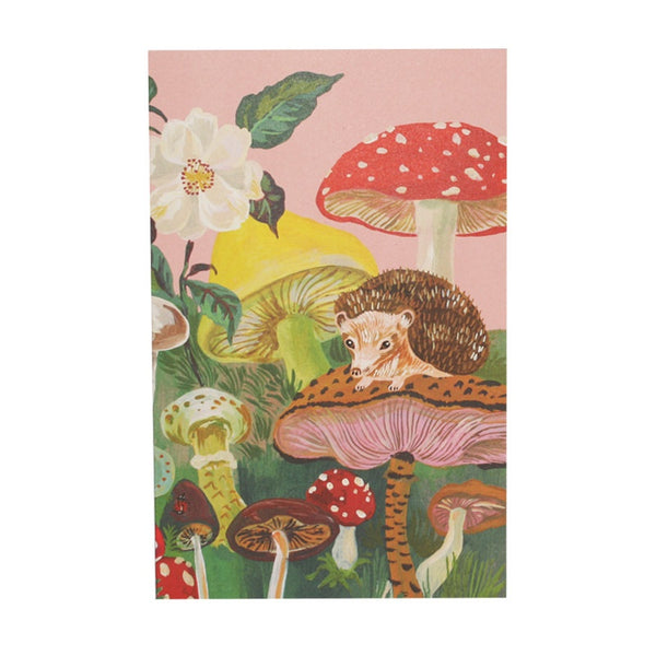 Forest Life Notebook Pink