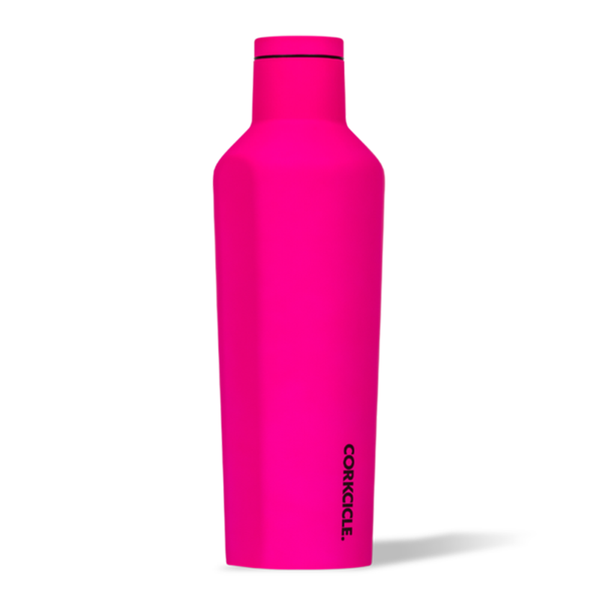 Corkcicle Canteen Drink Bottle 16oz Neon Pink
