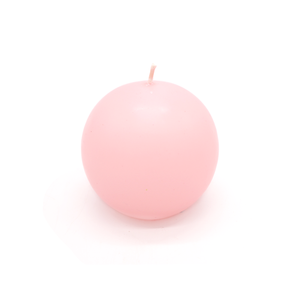 Ball Candle Large Baby Pink