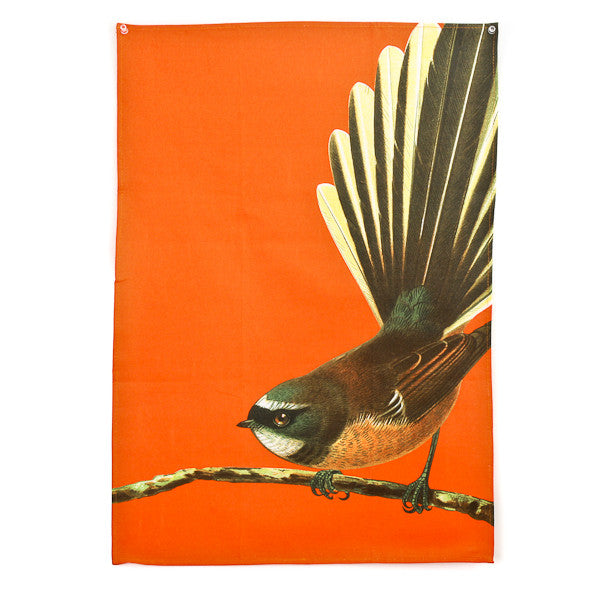 Bird Tea Towel Fantail Orange