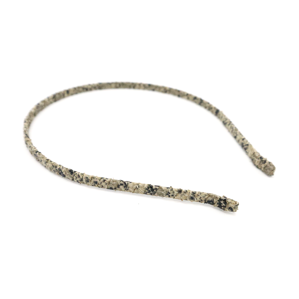 Stella + Gemma Headband Snake Pattern Beige Brown