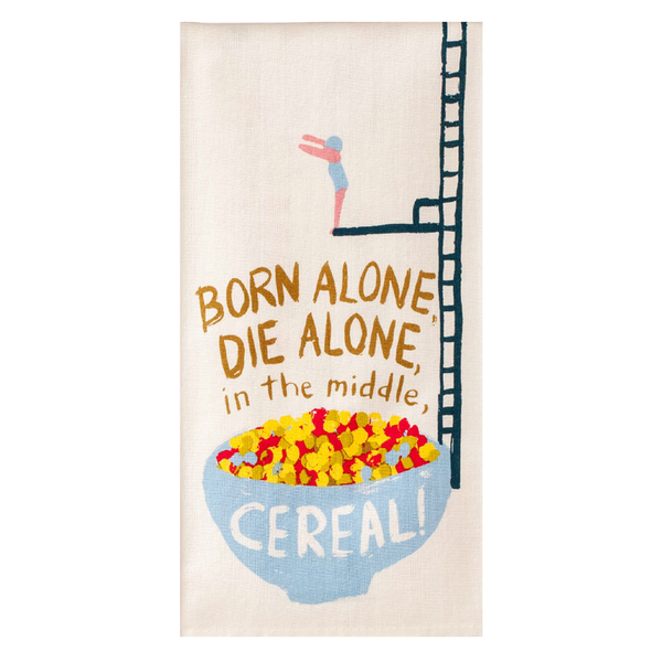 Blue Q Dish Towel Cereal