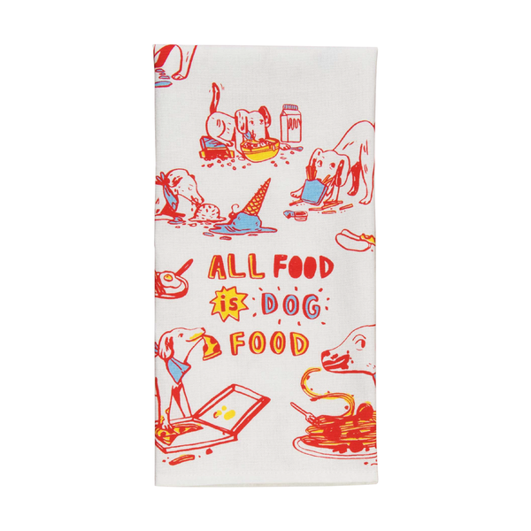 Blue Q Tea Towel All Food Is Dog Food