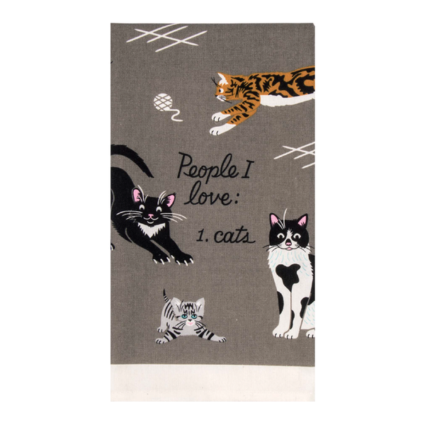 Blue Q Tea Towel People I Love Cats
