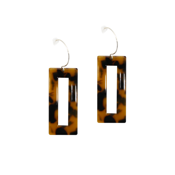 Penny Foggo Earrings Tortoiseshell Rectangles