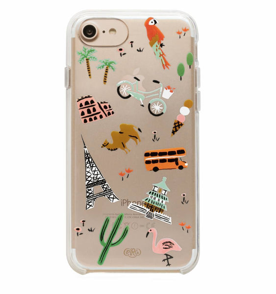 Rifle Paper Co iPhone 6/7/8 Hard Case Clear Wanderlust