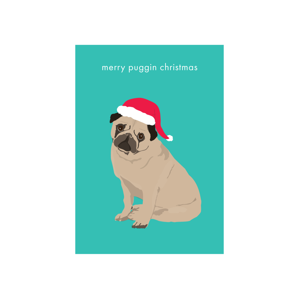 Iko Iko Christmas Card Puggin Christmas