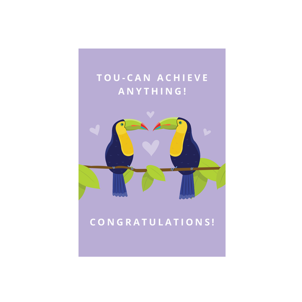 Iko Iko Cutie Animal Pun Card Toucan Congratulations